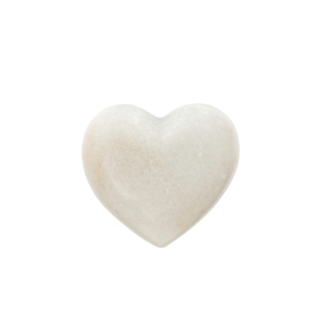 Small White Marble Heart