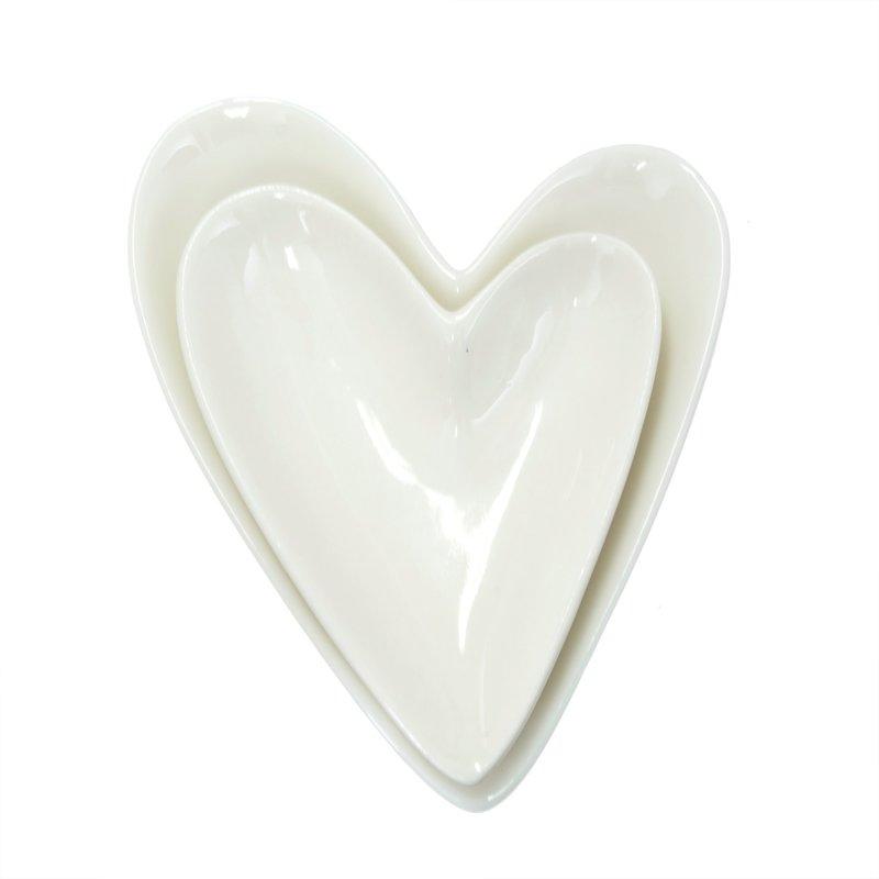Porcelain Heart Dishes
