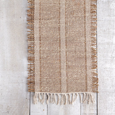 Bali Natural Edge White Table Runner