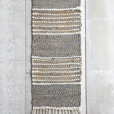 Mesa Grey Woven Table Runner