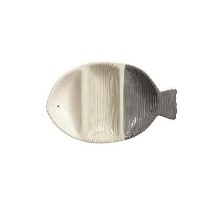Three Part Grey Fish Bowl