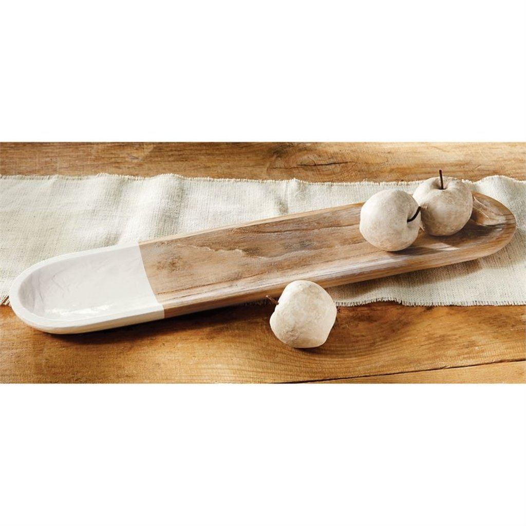 White Dipped Oval Tray