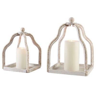 White Beaded Lanterns