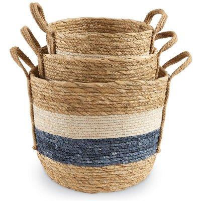 Blue & White Striped Baskets