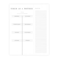 Tired as a Mother Weekly Planner