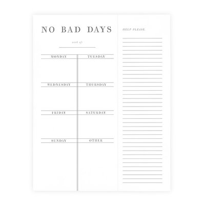 No Bad Days Weekly Planner