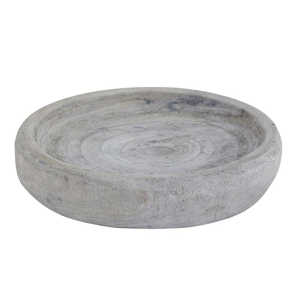 Small Grey Paulownia Bowl
