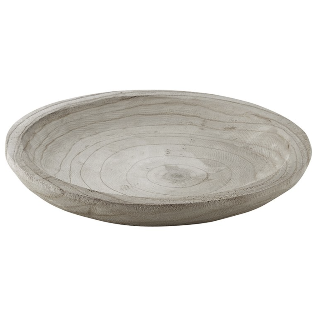 Large Grey Paulownia Bowl