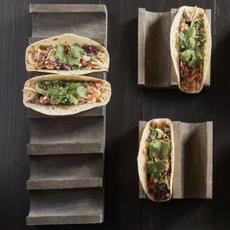 Double Taco/Hotdog Wood Tray