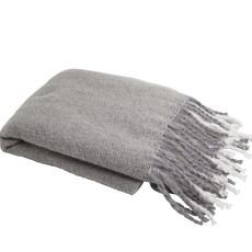 Natural Window Pane Knit Throw