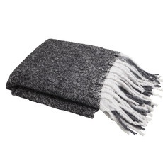 Charcoal Window Pane Knit Throw