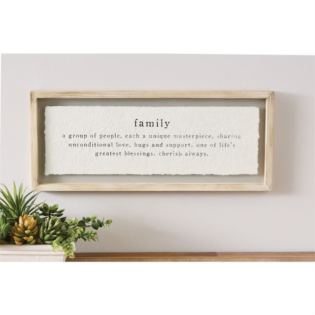 Family Definition Glass Plaque