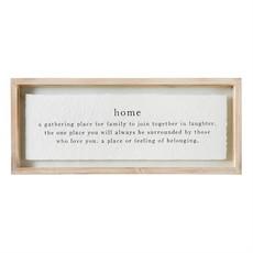 Home Definition Glass Plaque