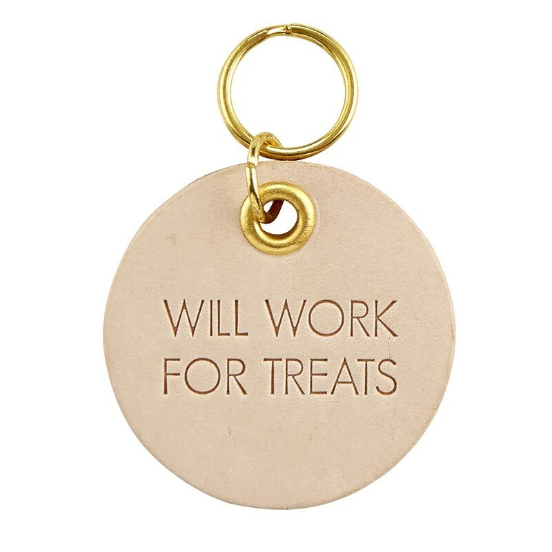 Treats Leather Pet Tag