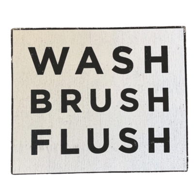 Wash Brush Flush Sign