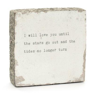 I Will Love You Art Block