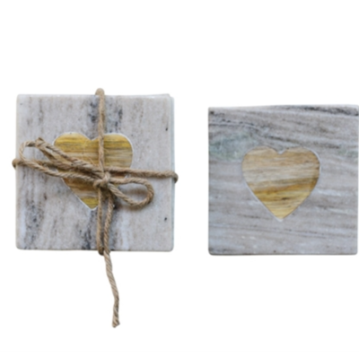 Marble Coasters With Heart