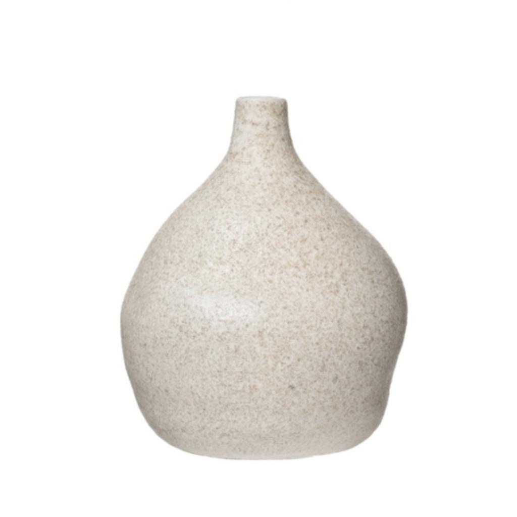 Distressed Cream Terracotta Vase - Medium
