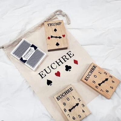 Handmade Euchre Set