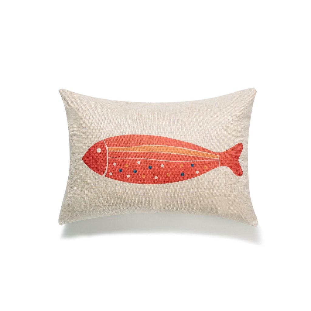 Red Fish Lumbar Pillow