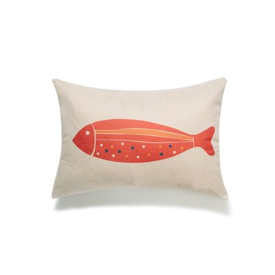 Red Fish Lumbar Pillow