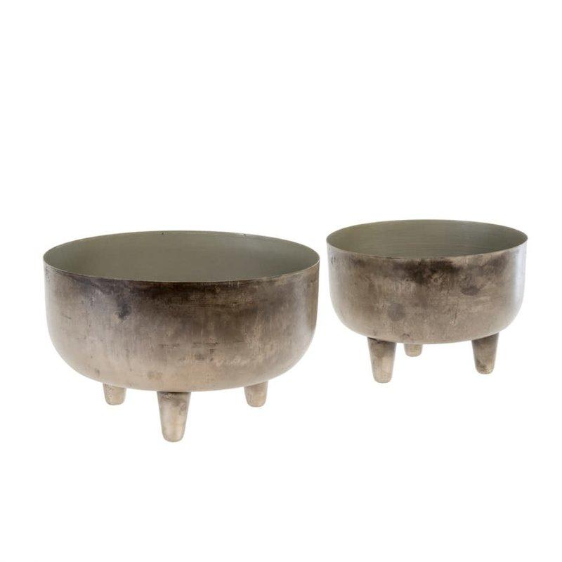 Patina Footed Pots
