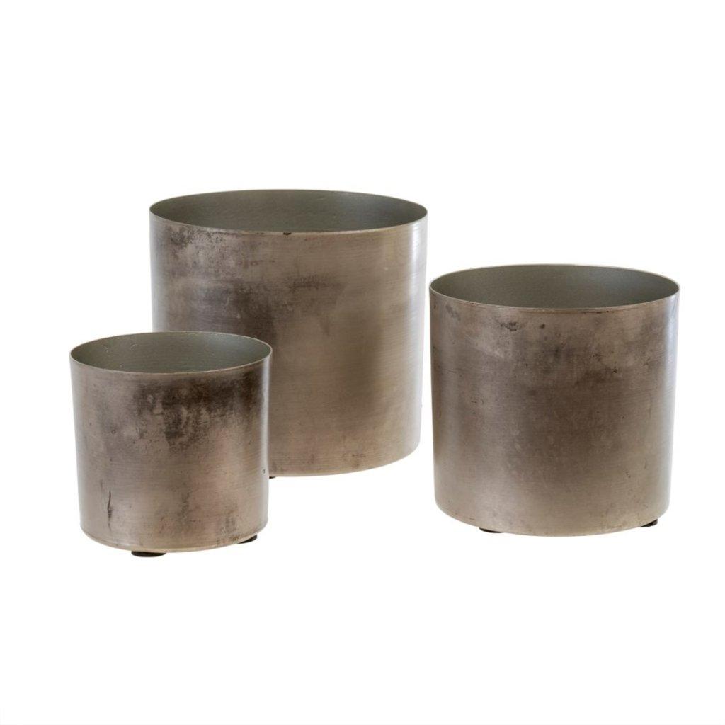 Set of 3 Patina Pots
