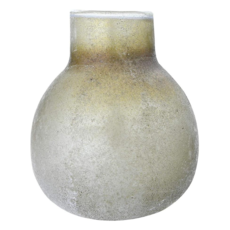 """6"""" Iridescent Frosted Glass Vase"""