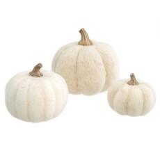 White Felt Pumpkins