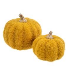 Ochre Felt Pumpkins