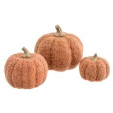 Terracotta Felt Pumpkins