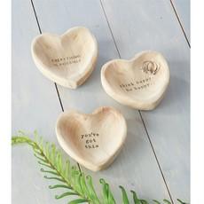 Wooden Heart Trinket Bowls