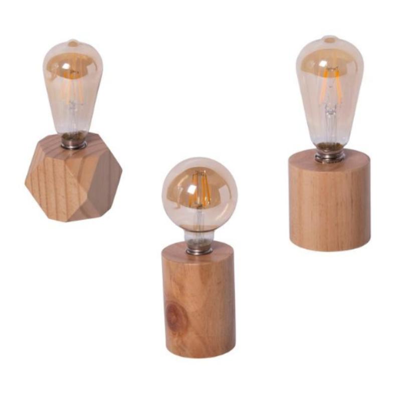 Assorted Wood Base Lights
