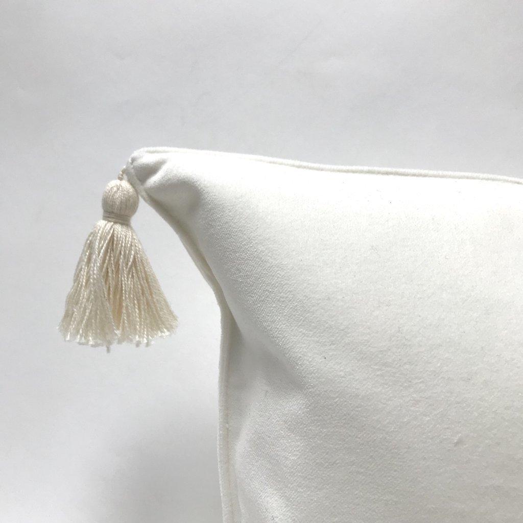 Velvet Pillow with Tassel