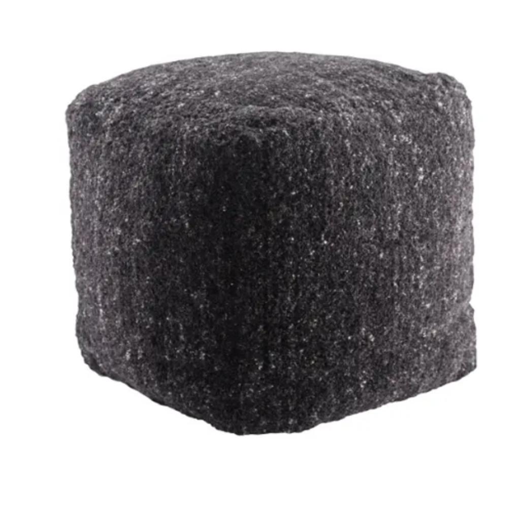 Black Olive Vagabond Pouf