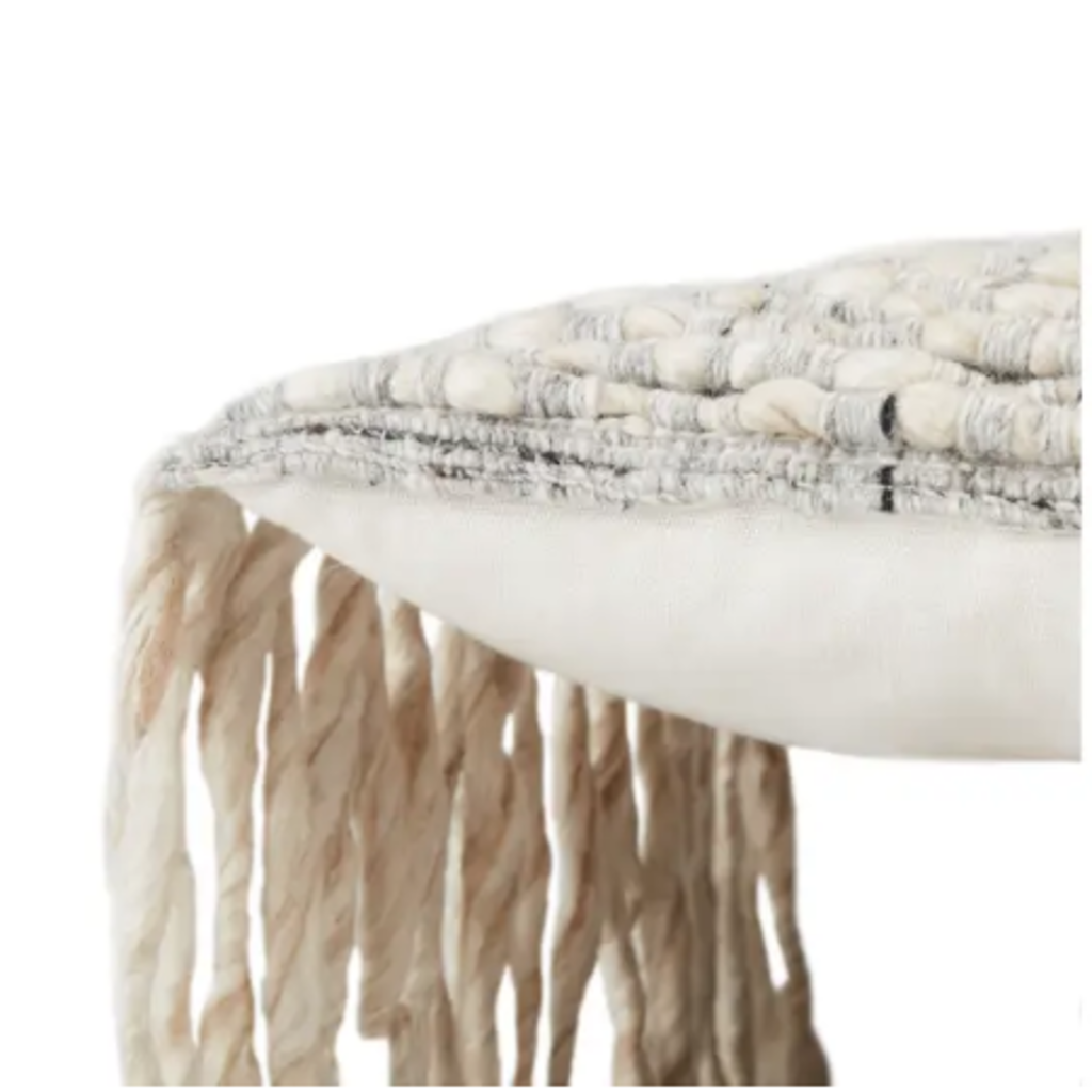Whisper White Angora Lumbar Pillow