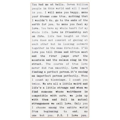 Love Typewriter Sign