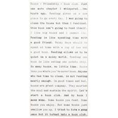 Book Club Typewriter Sign