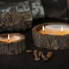 2 Wick Tree Bark Candle
