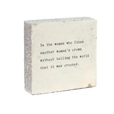 Be the Woman Art Block