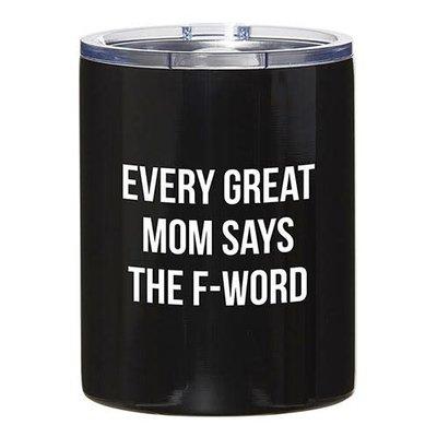 12oz Black Tumbler - Great Mom