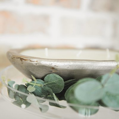 Champagne Mini Candle Dough Bowl