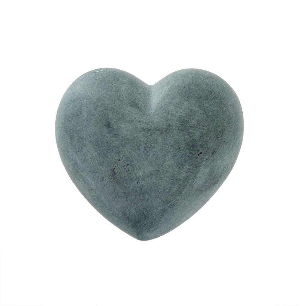 Charcoal Full Soapstone Heart