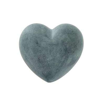 Charcoal Full Soapstone Heart