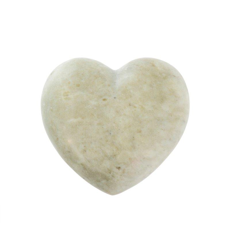 Grey Full Soapstone Heart