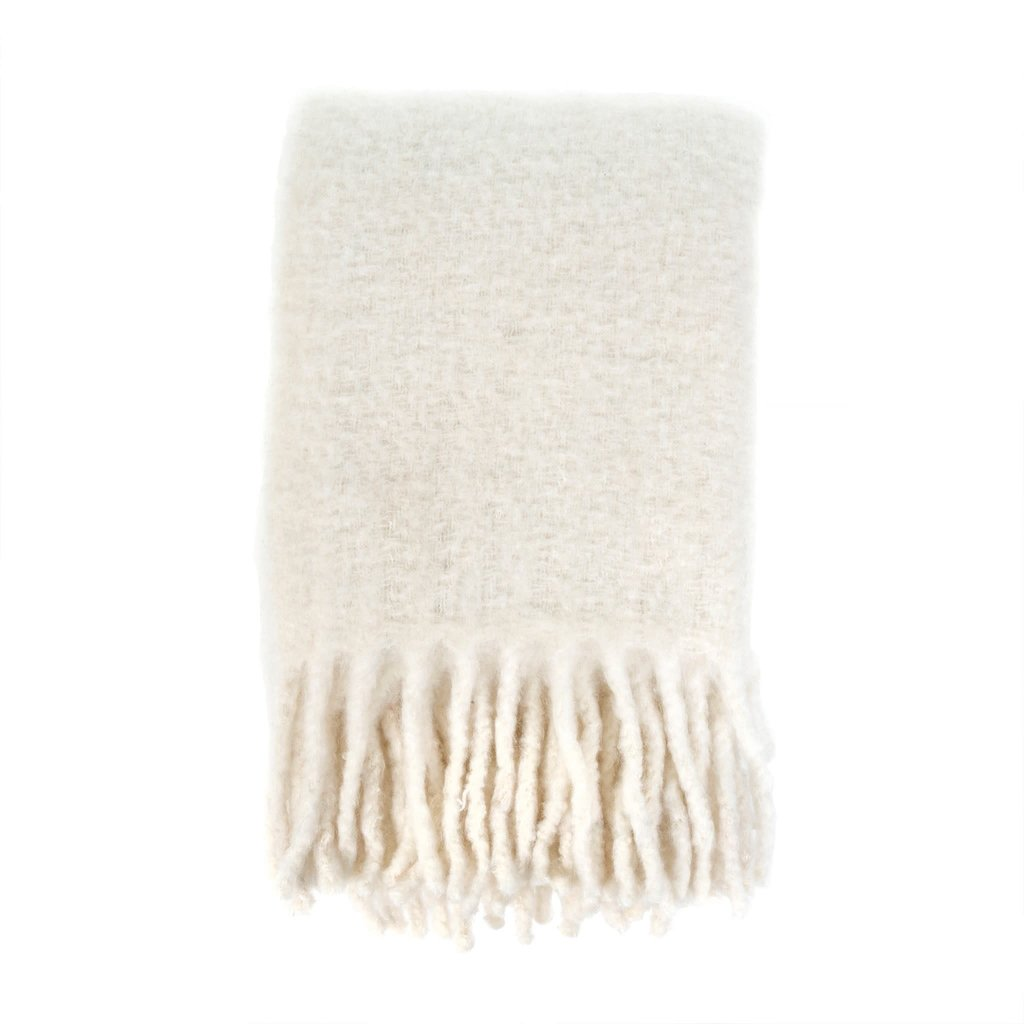 White Fireside Cozy Throw