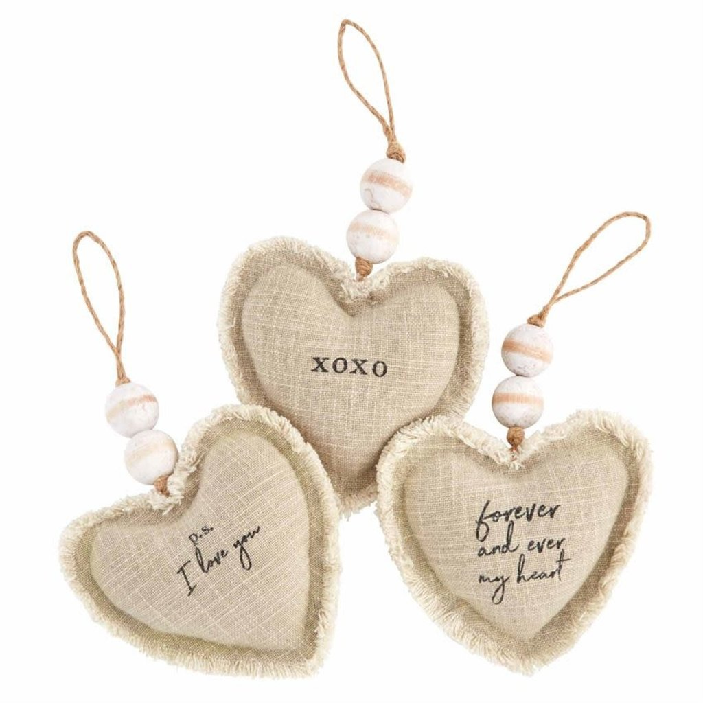 XOXO Heart Ornaments