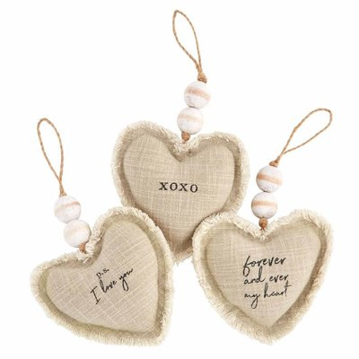 XOXO Heart Ornaments