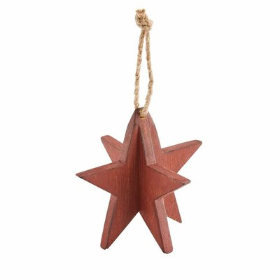 Red 3D Star Ornament