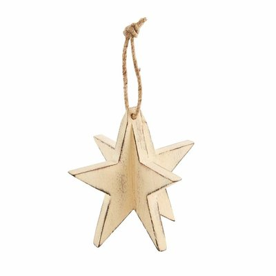 White 3D Star Ornament